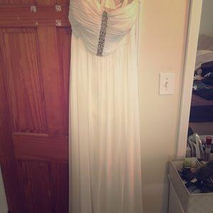 Strapless white gown